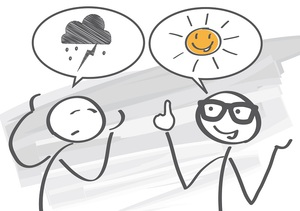 Общение пессимиста и оптимиста