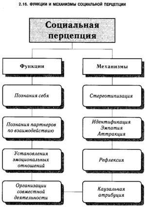 Механизм социально перцепции