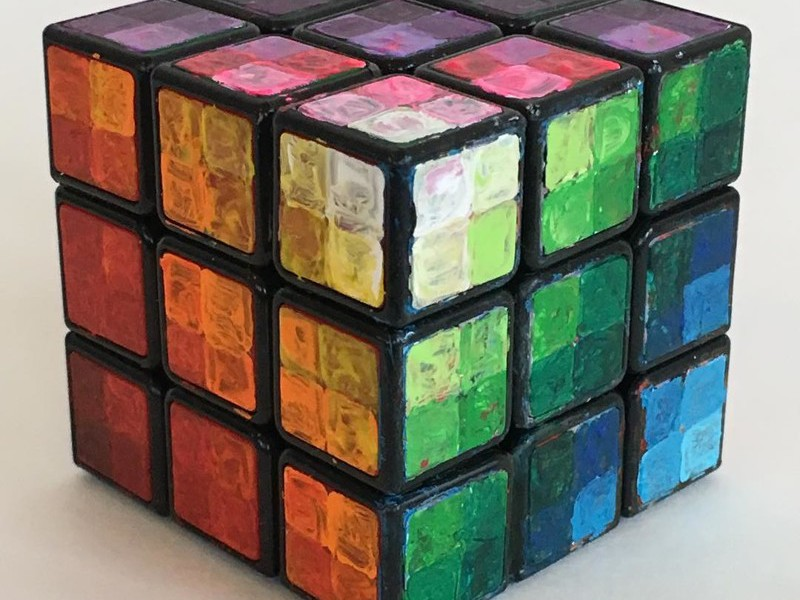 Цветные клетки вместе